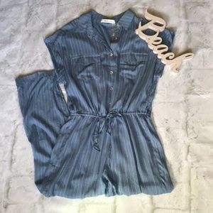 MUSTARD SEED Nordstrom Slate Blue Striped Jumpsuit